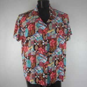 Reyn Spooner Mens XL Hawaiian Shirt Surfing Hula